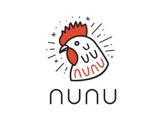 Alt Logo Design for Nunu designed by Jon Billett. Connect with them on Dribbble; the global community for designers and creative professionals. Food Logo Design, Fashion Logo Design, Logo Design Trends, Brand Identity Design, Logo Design Inspiration, Branding Design, Design Design, Logo Restaurant, Chicken Restaurant Logos