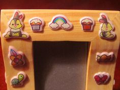 CUTEY  PUFF CRITTERS childs picture frame - pinned by pin4etsy.com