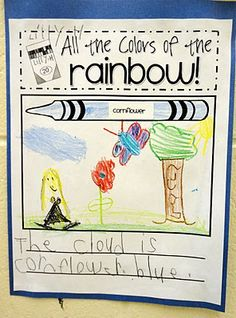 The Inspired Apple: Color Word Adjective Activity {first, second, third grade}