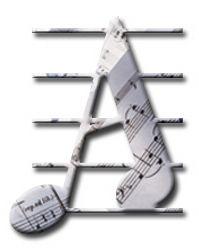 Alfabeto musical con pentagrama.
