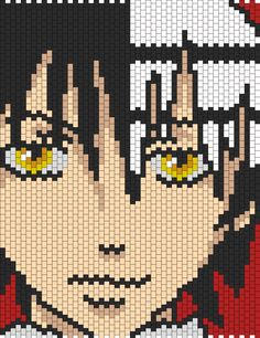 Death The Kid From Soul Eater bead pattern