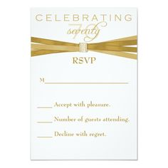 1329 best 70th birthday invitations images on pinterest invitation elegant 70th birthday party invitations rsvp card filmwisefo
