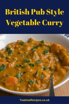British curry? Don't you mean Indian curry or Thai curry? Nope, this recipe is for British curry, the sweet, thick kind you get from pubs all over the UK. Yes the Brits got the idea from India but they have adapted the flavours to their own palates, which is why British curries tend to be thick, sweet and not too spicy. In a British pub you can order curry with a jacket potato (baked potato), rice or chips (fries) or even half rice and half chips in many places. Expect a mild flavour, but…