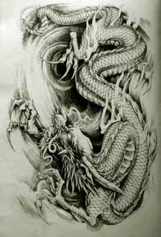 Best Dragon Tattoo @ http://tattooideen.at/drachen-tattoo/