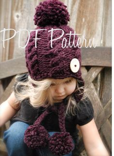 Knitting PATTERN-The Roxie Hat 12/18 months от Thevelvetacorn