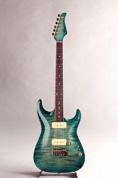 Pensa Custom Guitars[ペンサ カスタム ギターズ] MK-1 P-90 Style Aqua Blue Burst 2015|詳細写真
