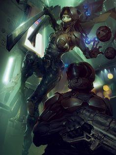 Sci-Fi Art: Barrit Assassin - 2D Digital, Sci-fiCoolvibe – Digital Art Sci-Fi Art by Marat Arslanov