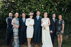 Real Wedding at The Green Cornwall -  Group photo. Carmel and Dan rustic, vintage inspired country farm house wedding with pastels and florals wedding inspiration. Natural relaxed creative wedding photography in Devon and Cornwall www.libertypearlphotography.com