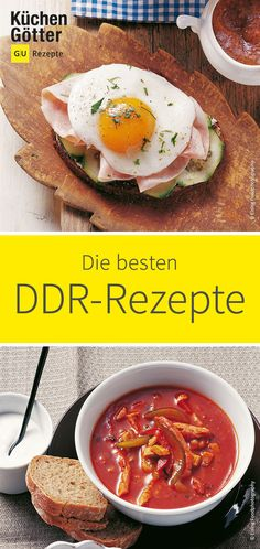 Die DDR gibt es zwar seit 1990 nicht mehr, ihre kulinarischen Einflüsse reichen… Although the GDR has not existed since its culinary influences extend to the present day. We have picked out the tastiest recipes of GDR cuisine for you. Baby Food Recipes, Mexican Food Recipes, Vegetarian Recipes, Healthy Recipes, Ethnic Recipes, Italian Dinner Recipes, Sunday Dinner Recipes, Rda, Shellfish Recipes