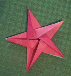 DIY 5 pointed origami star