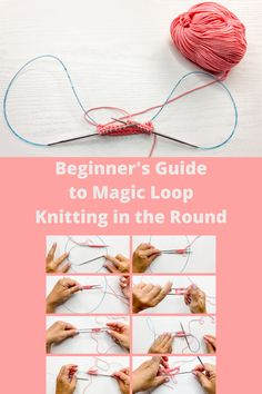 Magic Loop Knitting, Circular Knitting Needles, Knitting Stitches, Knitting Socks, Hand Knitting, Start Knitting, Magic Loop Crochet, Circular Knitting Patterns, Knitting Help