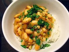 Cannellini Beans and Rice-nothing extravagant but something simple