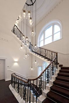 Delightful Staircase Pendant Lighting 15 Blown Glass Pendant Lighting Ideas For A Modern And Sleek Glow | Staircases, Kitchens And Lamp Light #pendantlighting