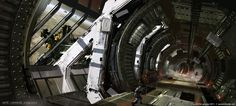 "Guerilla Games ""Killzone 3"" Heighast Space Station Interior by Jesse Van Dijk"