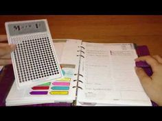 Filofax Home Binder Setup Part 1: Calendar Setup (the Mark It dots she uses I've since ordered - godsend!  they're awesome!)