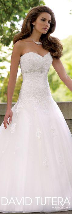The David Tutera for Mon Cheri Wedding Gown Collection - Style No. 113231  Goldie  davidtuteraformoncheri.com #weddingdresses #weddinggowns