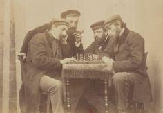 1860-1865 - Partie d'Echec. (Groupe Hostaux) | Villers-Cotterêts et ses environs