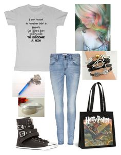 """geek"" by girly-geek ❤ liked on Polyvore featuring Burberry and Converse"