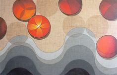 """""""Forty Degrees"""" by the Brazilian artist Quim Alcantara.  Acrylic on fabric (raw wool), 63"""" x 47"""", 2012.  --  """"Quarenta Graus"""" do artista plástico Quim Alcantara  Acrílica sobre tecido (lã rústica), 160 x 120 cm, 2012.  --  http://quim.com.br/quarenta-graus/  http://facebook.com/contemporarypainting  http://twitter.com/quimalcantara /  @quimalcantara"""