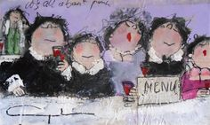 Gerdine Duijsens - It's all about pink - 90 x 145 cm Funny Paintings, Fat Art, Chubby Ladies, Fat Women, Inner Child, Triplets, Girlfriends, Mona Lisa, Whimsical
