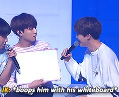 Basically Jiminie is criticising(teasing) Kookie again xD I love their interactions! Makes me think of fighting kittens
