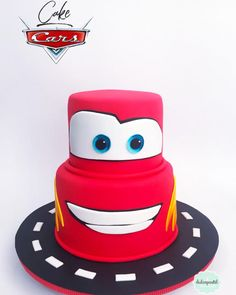 Torta Rayo McQueen - Lightning McQueen Cake by Giovanna Carrillo