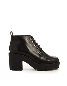 ASOS ENTITY Leather Lace Up Ankle Boots