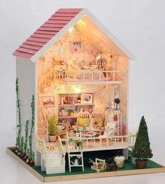 Dollhouse Miniature DIY Kit w Light Sweet Heart Whisper Romantic Love Home Model   eBay