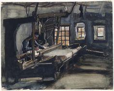 Vincent van Gogh, Wever, Nuenen, 1883 - 1884. Potlood, waterverf, pen in inkt, op papier. Van Gogh Museum Amsterdam.