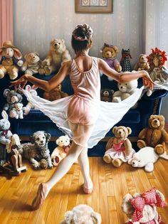 """TOM SIERAK ~ a ballerina's curtsy for her """"audience"""""""