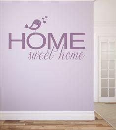 Wandtattoo, Home Sweet Home, Wandsticker, Wohnen,