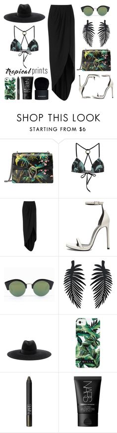 """Hot Tropics"" by eva-jez ❤ liked on Polyvore featuring Gucci, Wildfox, Boutique, Yves Saint Laurent, Cheap Monday, Milly, NARS Cosmetics, Givenchy, tropicalprints and hottropics"