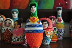 Matrioshkas de Maria Tenorio (She is my sister!!!!)
