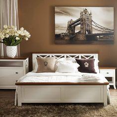 Mobexpert pat, 120x200cm, tablia inclusa alb Elisabeth Decor, Furniture, Room, Spare Bedroom, Media Room, Home Decor, Home Deco, Bed, Man Cave