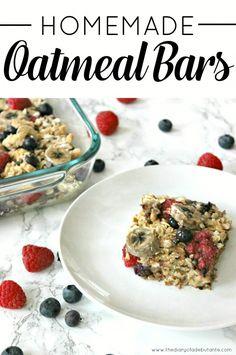 Homemade Oatmeal Bars, Oatmeal Bars, Baked Oatmeal Casserole, Homemade Oatmeal, Easy Breakfast Recipes, Stephanie Ziajka, Diary of a Debutante