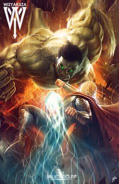 Hulk vs Thor - Ceasar Muyuela