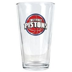 NBA Great American Products Detroit Pistons 16oz Pint Glass with Primary Logo