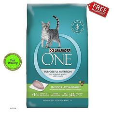 Purina ONE Indoor Advantage Dry Cat Food With Real Turkey And Vitamins 16 lb Bag