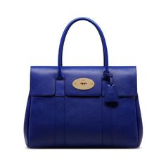 Mulberry Standout Shades Bayswater In Neon Blue Small Classic Grain Beautiful Handbags Bags
