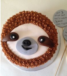 Sloth Cakes, Dog Cakes, Cupcakes, Cupcake Cakes, Birthday Cake For Women Simple, Birthday Treats, Cake Birthday, Animal Cakes, Creative Desserts