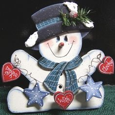 Dreamin of a White Christmas Snowman  Christmas by Cherables, $32.75