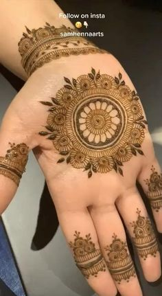 Henna Hand Designs, Circle Mehndi Designs, Mehndi Designs Finger, Rose Mehndi Designs, Mehndi Designs For Girls, Mehndi Designs For Beginners, Mehndi Design Photos, Wedding Mehndi Designs, Unique Mehndi Designs