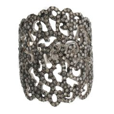 Rarities With Carol Brodie 2ct Champagne Diamond Lace Platinum Plated Ring 8 #RaritiesFineJewelrywithCarolBrodie #Band