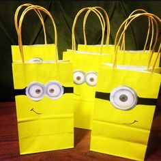 Starting on the minion gift bags for my sons bday party!
