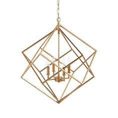 Hemisphere Geode Chandelier in Antiqued Brass