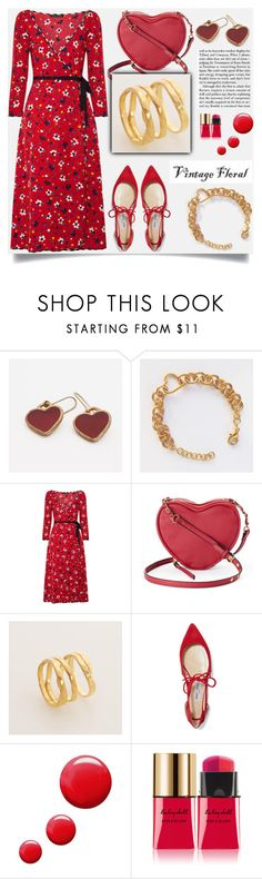 """""""Smell the Roses: Vintage Florals"""" by samra-bv ❤ liked on Polyvore featuring Marc Jacobs, Juicy Couture, Jimmy Choo, Topshop, Yves Saint Laurent, vintage, jewelry, polyvorecommunity, handmade and polyvorefashion"""