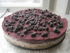 raw coconut blueberry | Raw Vegan Blueberry Lemon Layered Cheesecake ~ Gluten-Free-Vegan-Girl