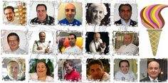The 16 Gelatieri partecipants to the first Gelato World Tour step, Rome