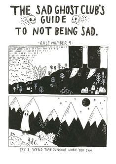 Artist Lize Meddings has created The Sad Ghost Club, a series of endearing comics aimed at helping people be less sad… - Site Today Ghost Comic, Sad Drawings, Ghost Drawings, Architecture Tattoo, Sad Art, Club, Giclee Print, Cool Art, Twitter