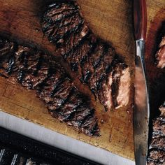 We make this super-easy, super-tasty dish all year long. The bold combination of soy sauce, balsamic, and maple syrup works its magic on the meat quickly, so it only needs to marinate for as long as it takes to get your grill fired up. In the fall and win Grilled Steak Recipes, Marinated Steak, Grilled Meat, Grilling Recipes, Grilled Vegetables, Barbecue Recipes, Sirloin Flap Steak Recipe, Beef Loin, Grilling The Perfect Steak
